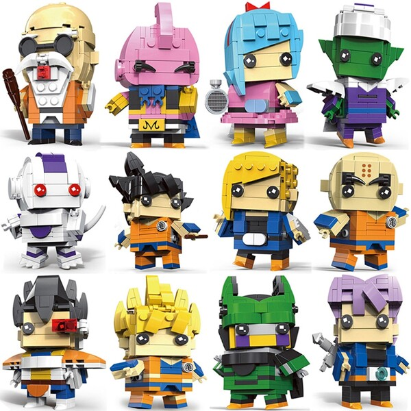 DragonBall Z Super Saiyan Kakarotto Majin Buu Figure Toy BrickHeadz