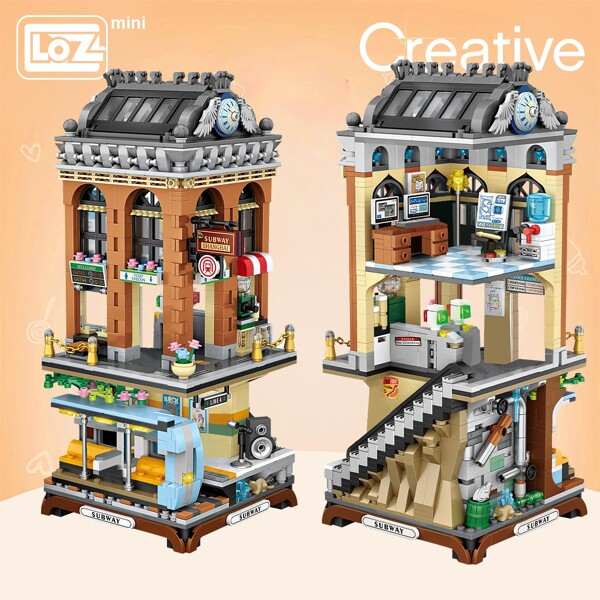 LOZ 1031 City European-style Subway Station Mini Street