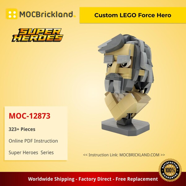 SUPER HEROES MOC-12873 Custom LEGO Force Hero by buildbetterbricks MOCBRICKLAND