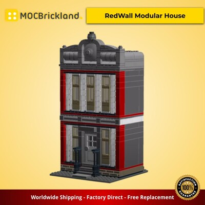 Modular buildings moc-4916 redwall modular house by keep on bricking mocbrickland