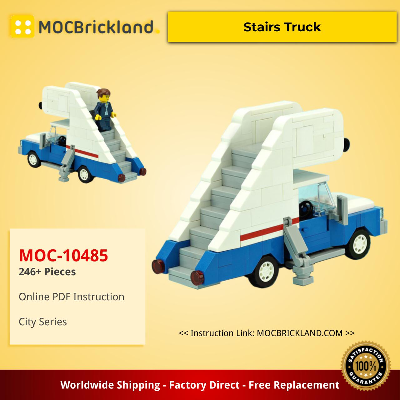 City moc-10485 stairs truck by de_marco mocbrickland