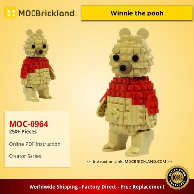 Creator MOC-0964 Winnie the pooh by JKBrickworks MOCBRICKLAND