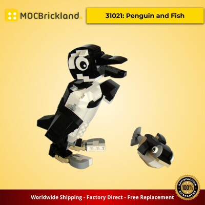 Creator moc-1867 31021: penguin and fish by tomik mocbrickland