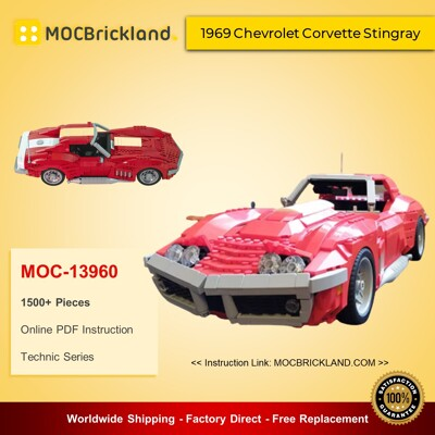 Technic MOC-13960 1969 Chevrolet Corvette Stingray By brickvault MOCBRICKLAND
