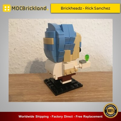 Movie MOC-18188 Brickheadz - Rick Sanchez By brick_monster MOCBRICKLAND