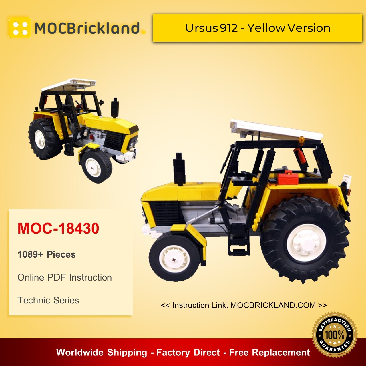 Technic moc-18430 ursus 912 - yellow version by m_longer mocbrickland