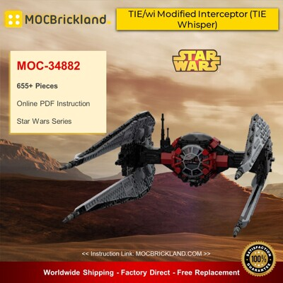 Star Wars MOC-34882 TIE/wi Modified Interceptor (TIE Whisper) By Kimnotyze MOCBRICKLAND