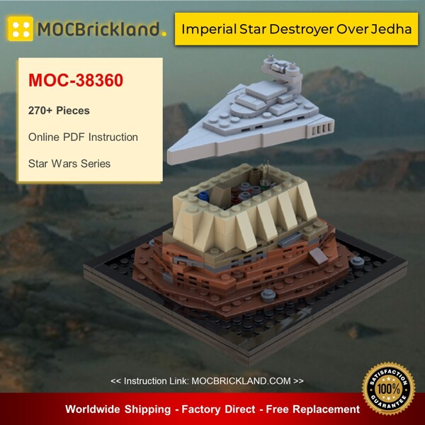 Star wars moc-38360 imperial star destroyer over jedha by bruxxy mocbrickland