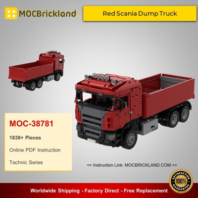 Technic MOC-38781 Red Scania Dump Truck By Springer83 MOCBRICKLAND