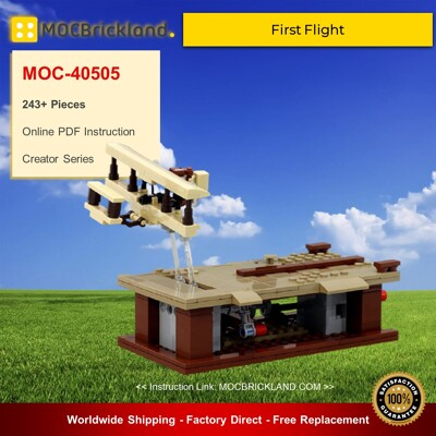 Creator MOC-40505 First Flight By JKBrickworks MOCBRICKLAND