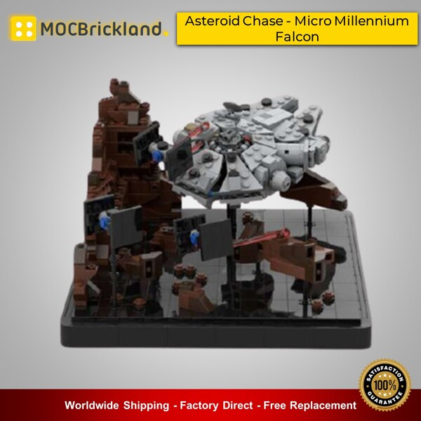 Star wars moc-41087 asteroid chase - micro millennium falcon - episode v by 6211 mocbrickland
