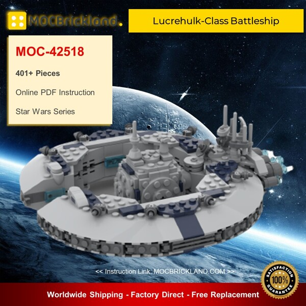 Star wars moc-42518 lucrehulk-class battleship (droid control ship) by woxtrot mocbrickland