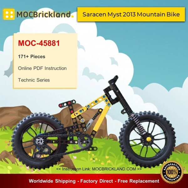 Technic moc-45881 saracen myst 2013 mountain by thelegomountainbiker bike mocbrickland