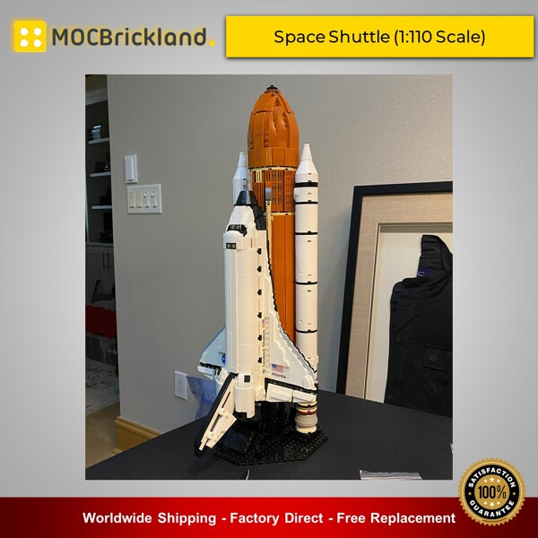 Space moc-46228 space shuttle (1:110 scale) by kingsknight mocbrickland