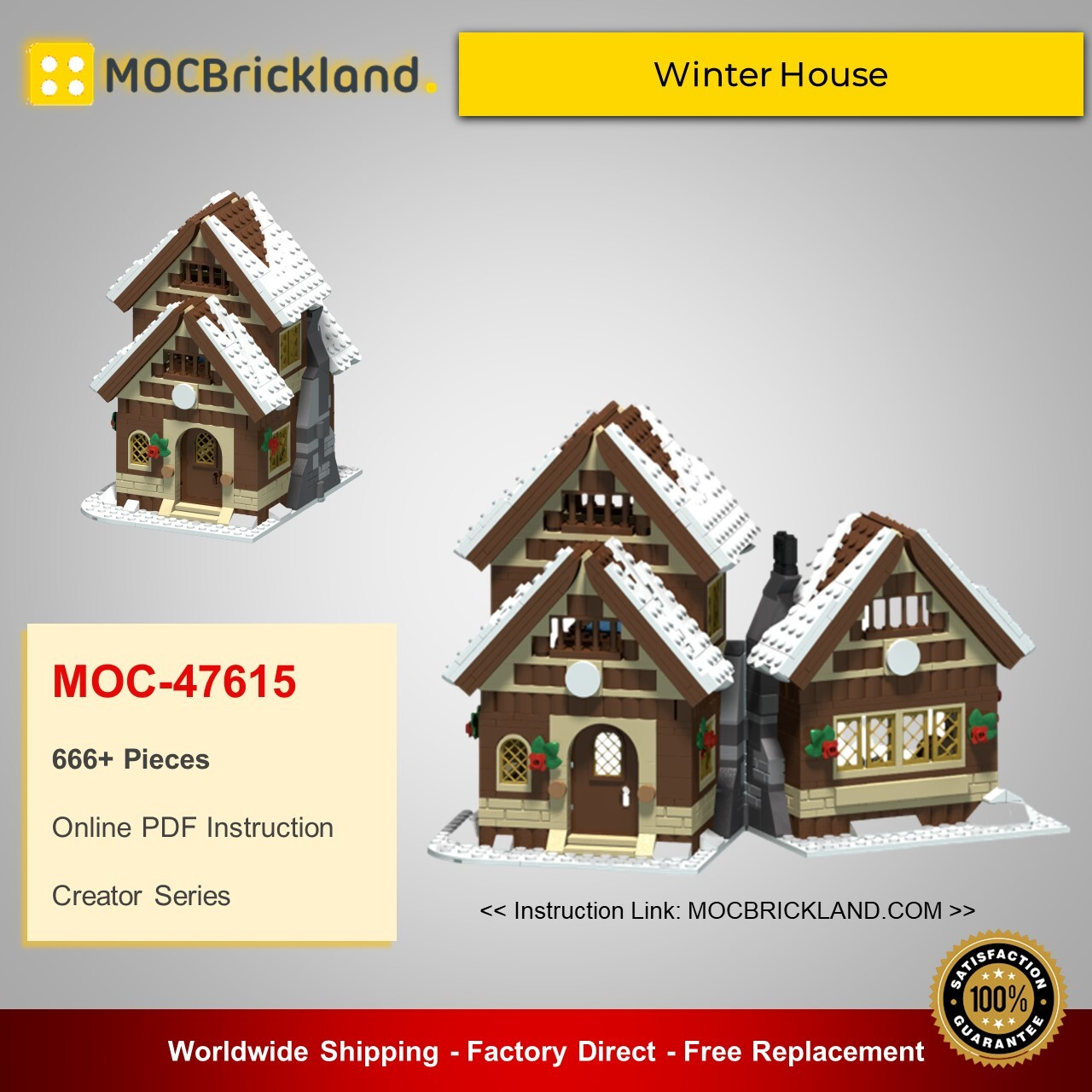 Creator moc-47615 winter house by mx32 mocbrickland