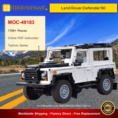 Technic MOC-49183 Land Rover Defender 90 By ArsMan064 MOCBRICKLAND