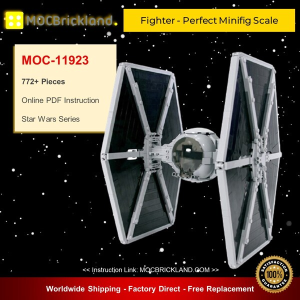 Star Wars MOC-11923 Fighter - Perfect Minifig Scale By brickvault MOCBRICKLAND