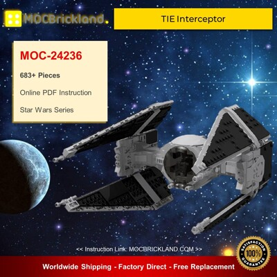 Star Wars MOC-24236 TIE Interceptor By EDGE OF BRICKS MOCBRICKLAND