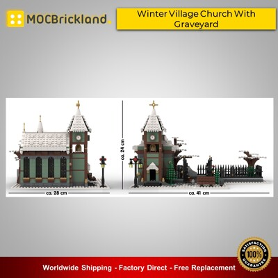 Christmas moc-31149 winter village church with graveyard by basti89 mocbrickland