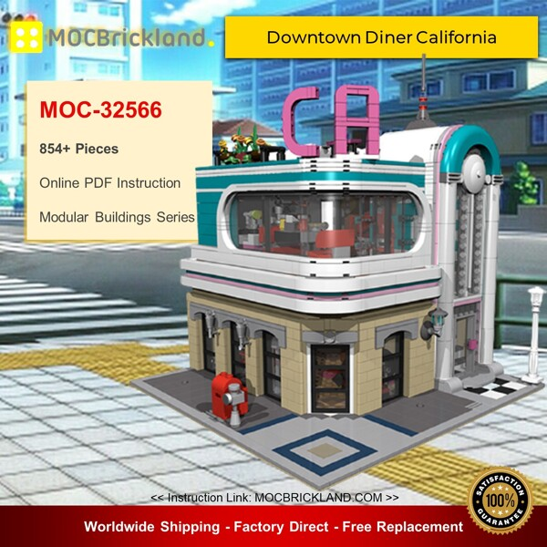 Modular buildings moc-32566 downtown diner california by dagupa mocbrickland