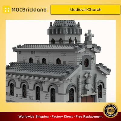 Modular buildings moc-33985 medieval church by tavernellos mocbrickland