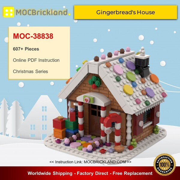 Christmas moc-38838 gingerbread's house by fabriziop mocbrickland