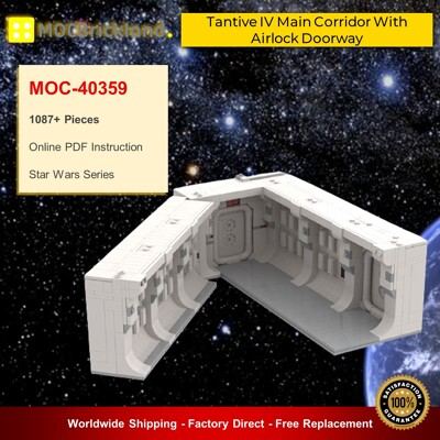 Star Wars MOC-40359 Tantive IV Main Corridor With Airlock Doorway By TheCreatorr MOCBRICKLAND