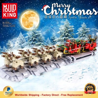 Creator MOULDKING 10015 The Motorized Christmas Santa Sleigh