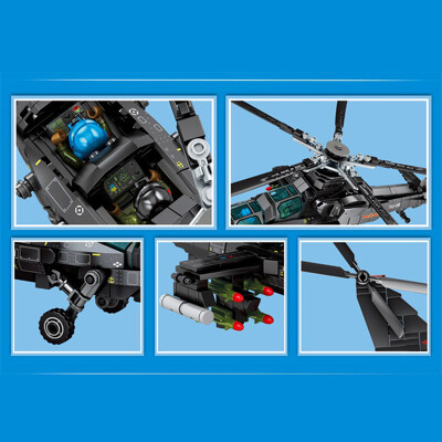 Creator sembo 202119 z 10 attack helicopter 3 lepin™ land shop