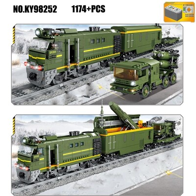 Kazi 98252 electric rail train with light and sound children assembled educational building blocks train lepin™ land shop