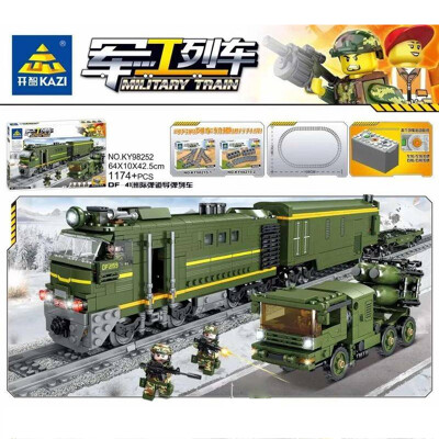 Military KAZI 98252 DF-41 Intercontinental Missile Train With Light And Sound