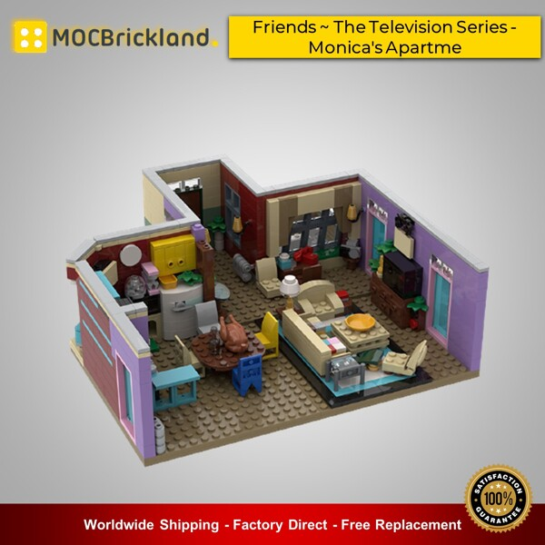 Creator moc-29532 friends ~ the television series - monica's apartme by momatteo79 mocbrickland