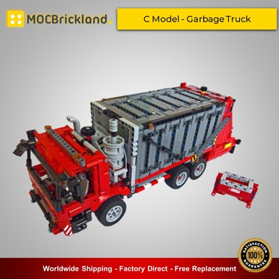 Technic MOC-38031 42098 C Model - Garbage Truck By Dyens Creations MOCBRICKLAND