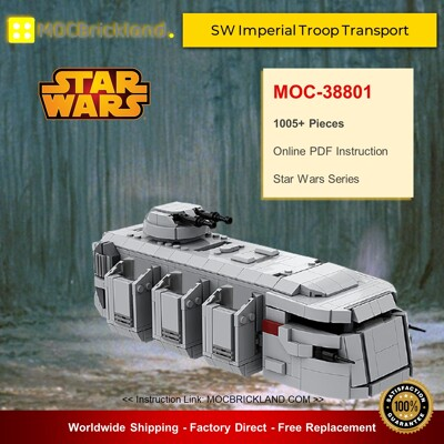 Star Wars MOC-38801 SW Imperial Troop Transport By EDGE OF BRICKS MOCBRICKLAND