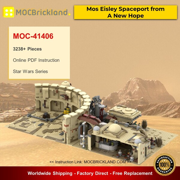 Star wars moc-41406 mos eisley spaceport from a new hope by zeradman mocbrickland