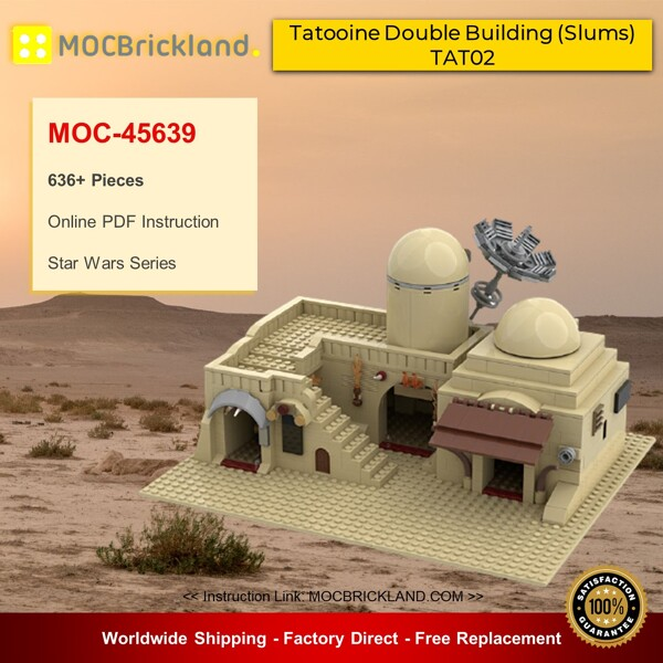 Star wars moc-45639 star wars tatooine double building (slums) tat02 by azzer86 mocbrickland