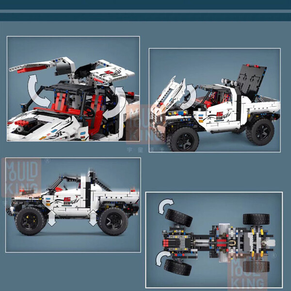 Technic mouldking 18005 silver flagship off road 5 lepin™ land shop