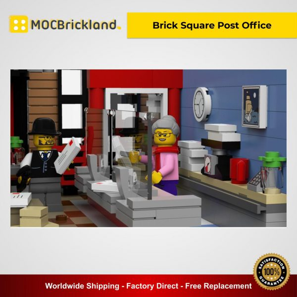 Moc 22101 brick square post office. Pptx 1 600x600 1 lepin™ land shop