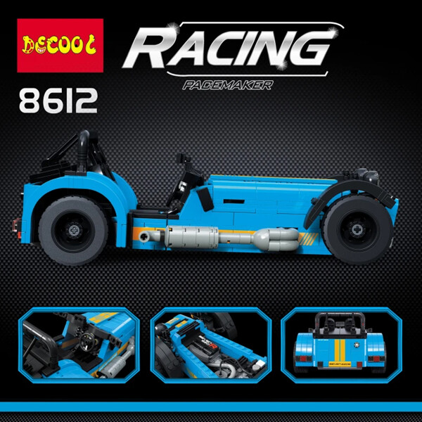 Technic decool 8612 the caterham classic 620r racing car