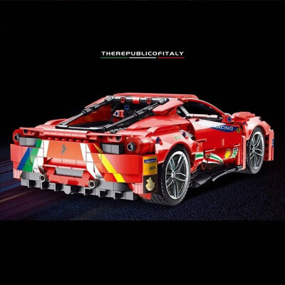 Technic lej 50026 ferrari 488 red track sports car