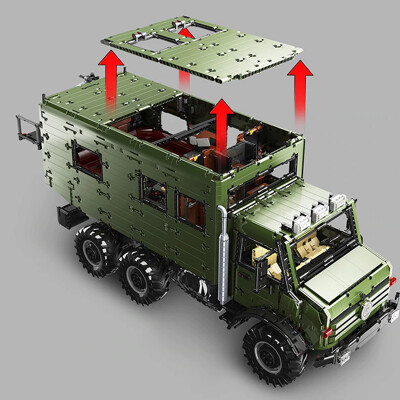 Lej j907 mercedes benz unimog 7 lepin™ land shop