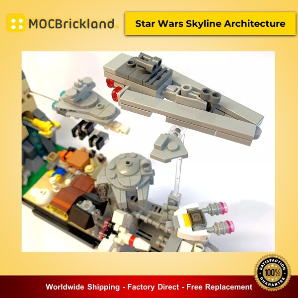 Star wars moc-19493 star wars skyline architecture by momatteo79 mocbrickland
