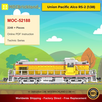 Technic MOC-52188 Union Pacific Alco RS-2 (1:38) By MasterBuilderKTC MOCBRICKLAND