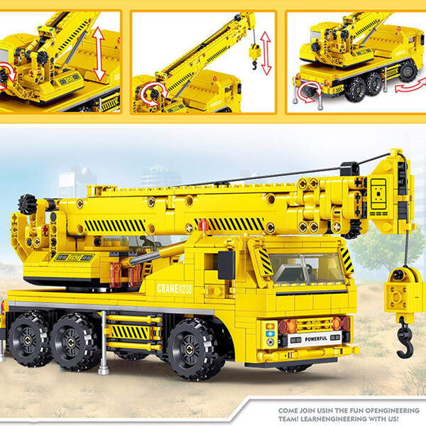 Zhegao ql0238 engineering crane construction vehicle 2 lepin™ land shop