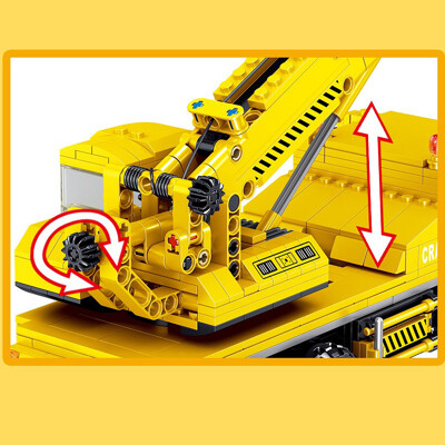 Zhegao ql0238 engineering crane construction vehicle 3 lepin™ land shop