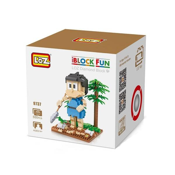 LOZ 9737 Doraemon Blue Spear Honekawa Suneo