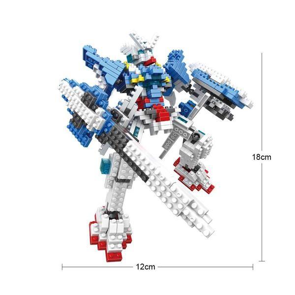 LOZ 9352 Transformers Blue Gundam