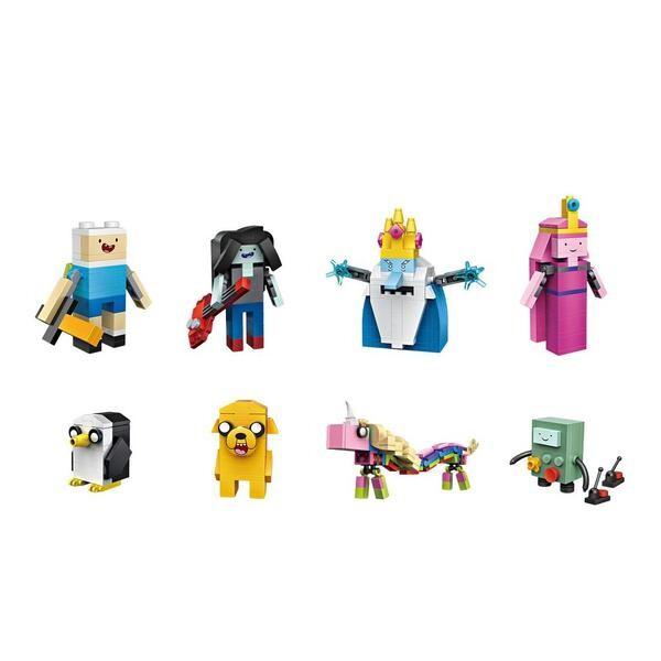 LOZ 1818 Cube Dudes Adventure Time x8
