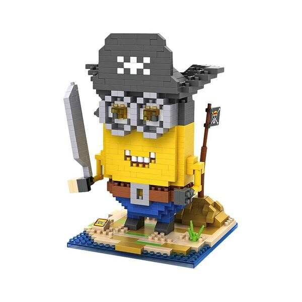 LOZ 9614 Despicable Me Pirate Minion