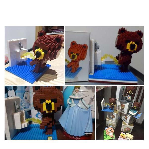LOZ 9430 Brown Bear Toilet